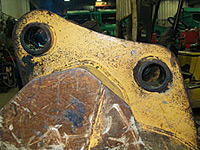 Excavator Bucket Mount Repair